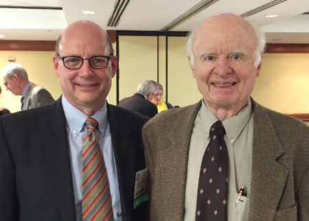Mike Garland with Ralph C. Nash Jr., the godfather of Government Contracts Law and Professor Emeritus of Law at George Washington University